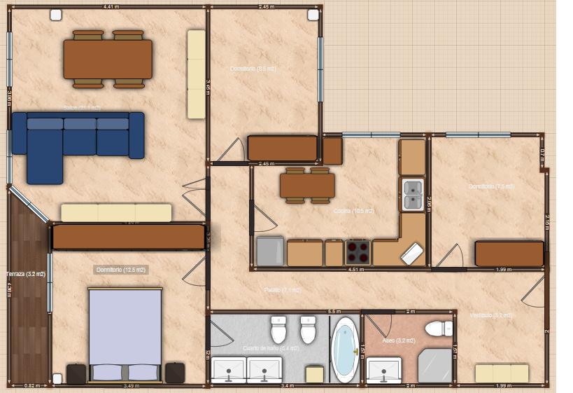 Conceptos generales del feng shui y c mo hacer un plano - Dibujar planos de casas ...