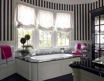 Estampados-rayados-blanco-y-negro-en-la-decoración-moderna-1
