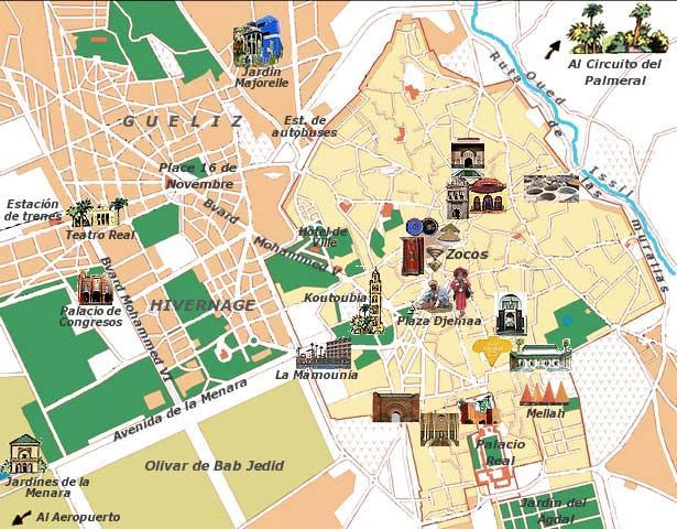 mapa-turistico marrakech