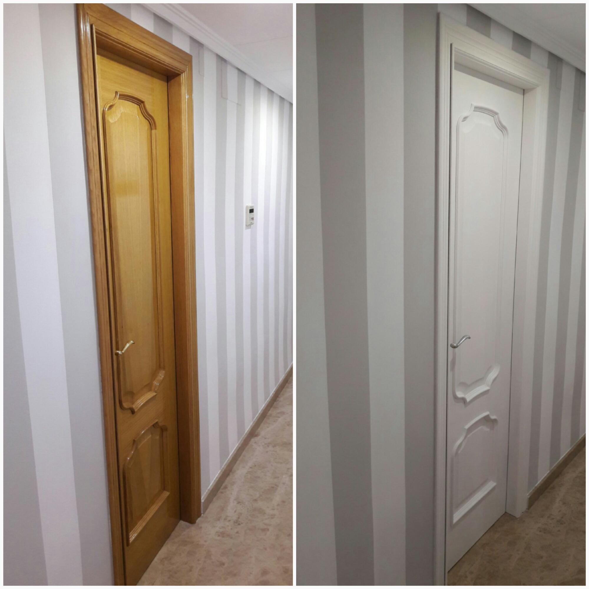 reforma vivienda puertas lacadas blancas armarios