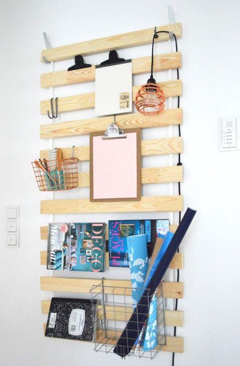ganchos Blecka y somier Luroy Ikea organizador escritorio