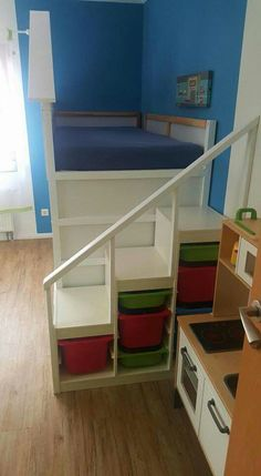 Escaleras cama almacenaje