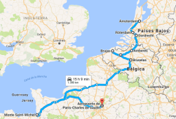 Holanda, Belgica y Monte San Michel