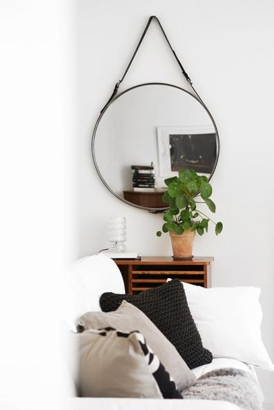 espejo Ronglan Ikea cinturon cuero