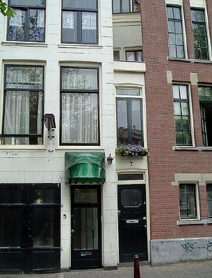 la casa mas estrecha Amsterdam