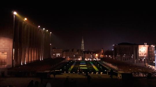 Vistas nocturnas Bruselas