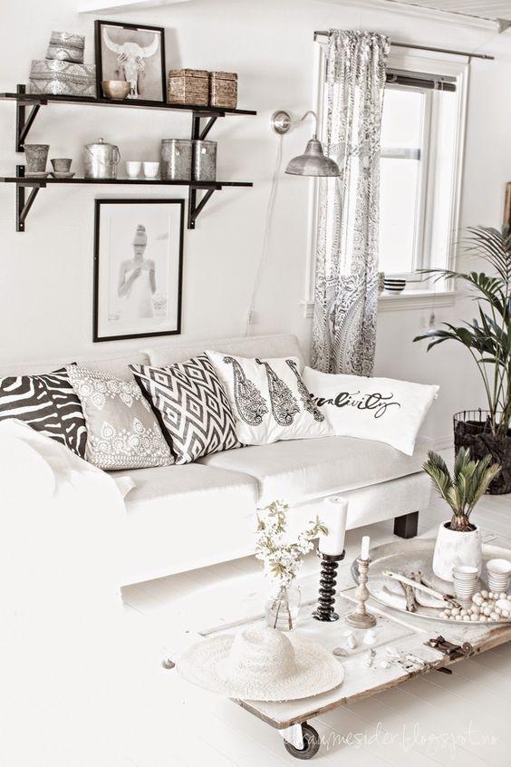 blanco y negro tejidos etnicos