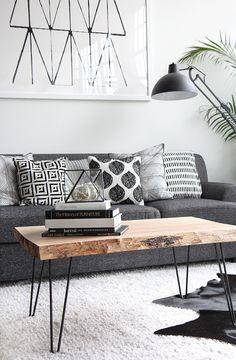 boho blanco y negro mesa madera