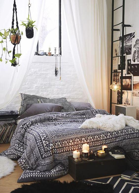 cama colcha estampado etnico