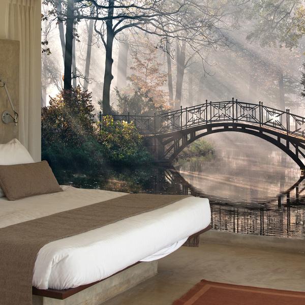 fotomurales-puente-en-el-bosque