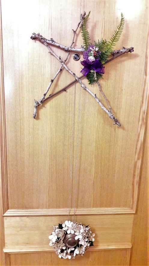 adornos navidad puerta