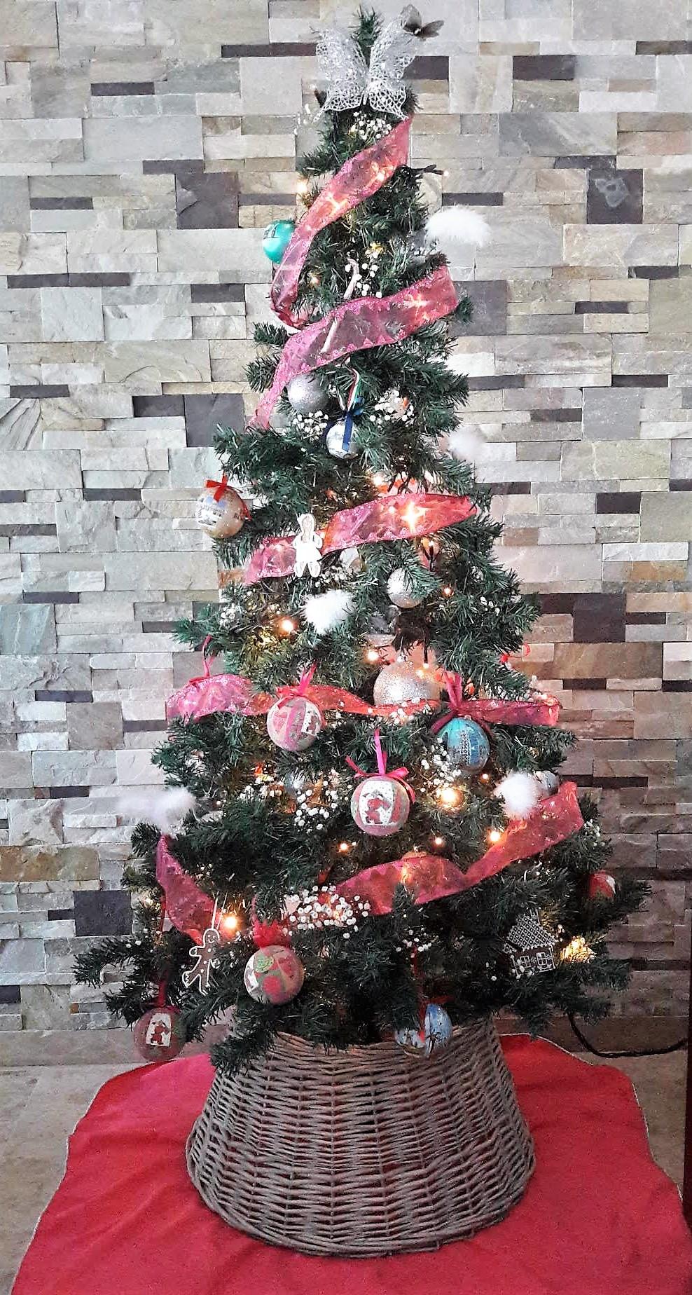 arbol navidad fucsia