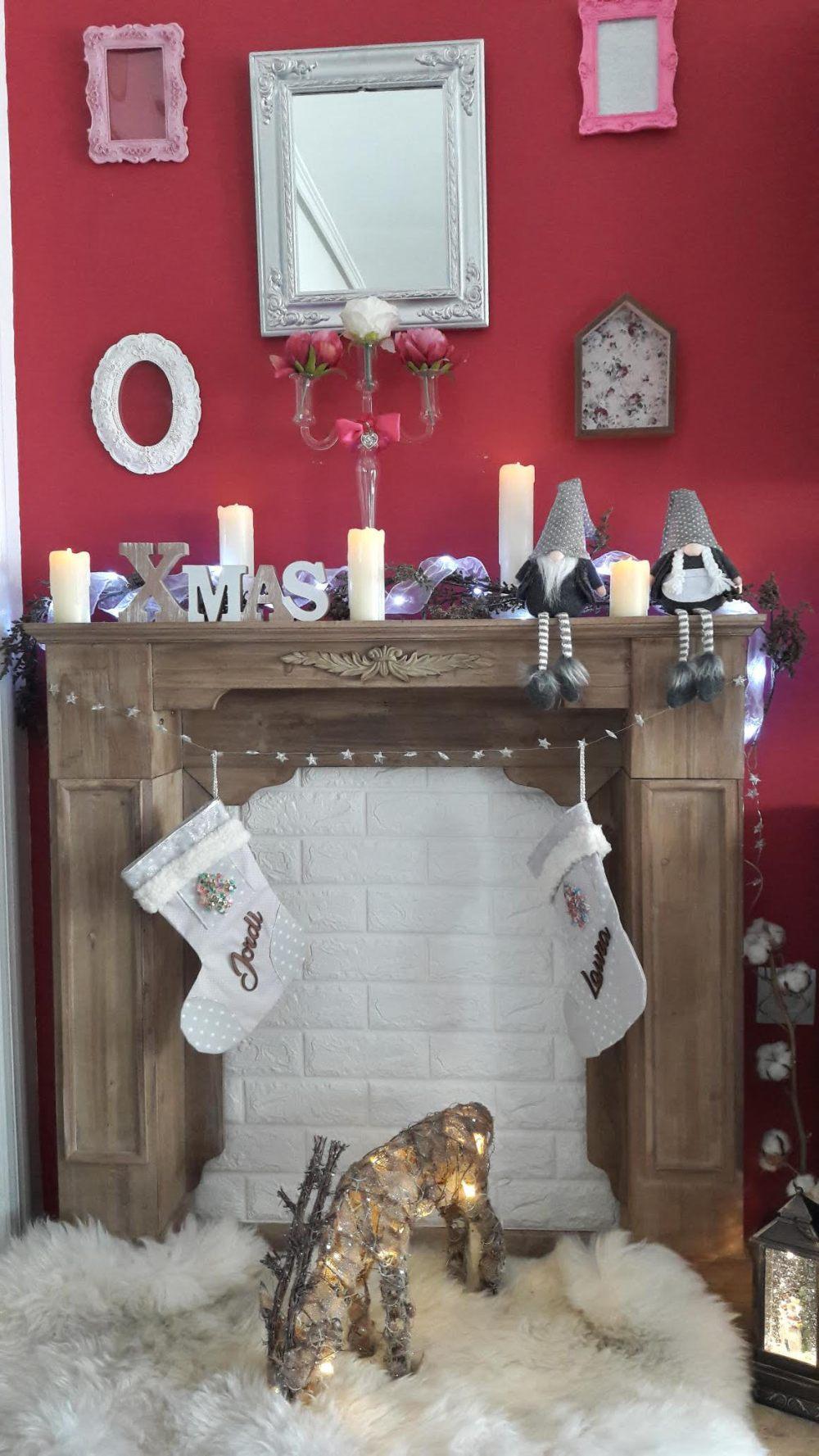 chimenea navidad reno