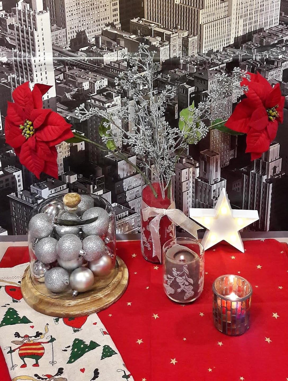 navidad rojo cocina
