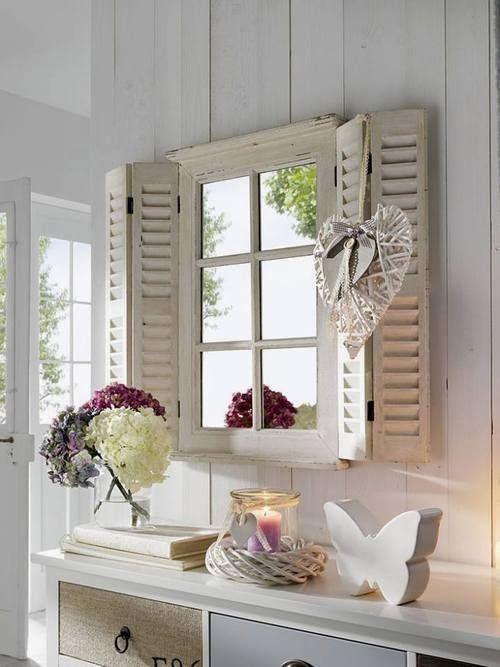 Recibidor espejo ventana con marquesina