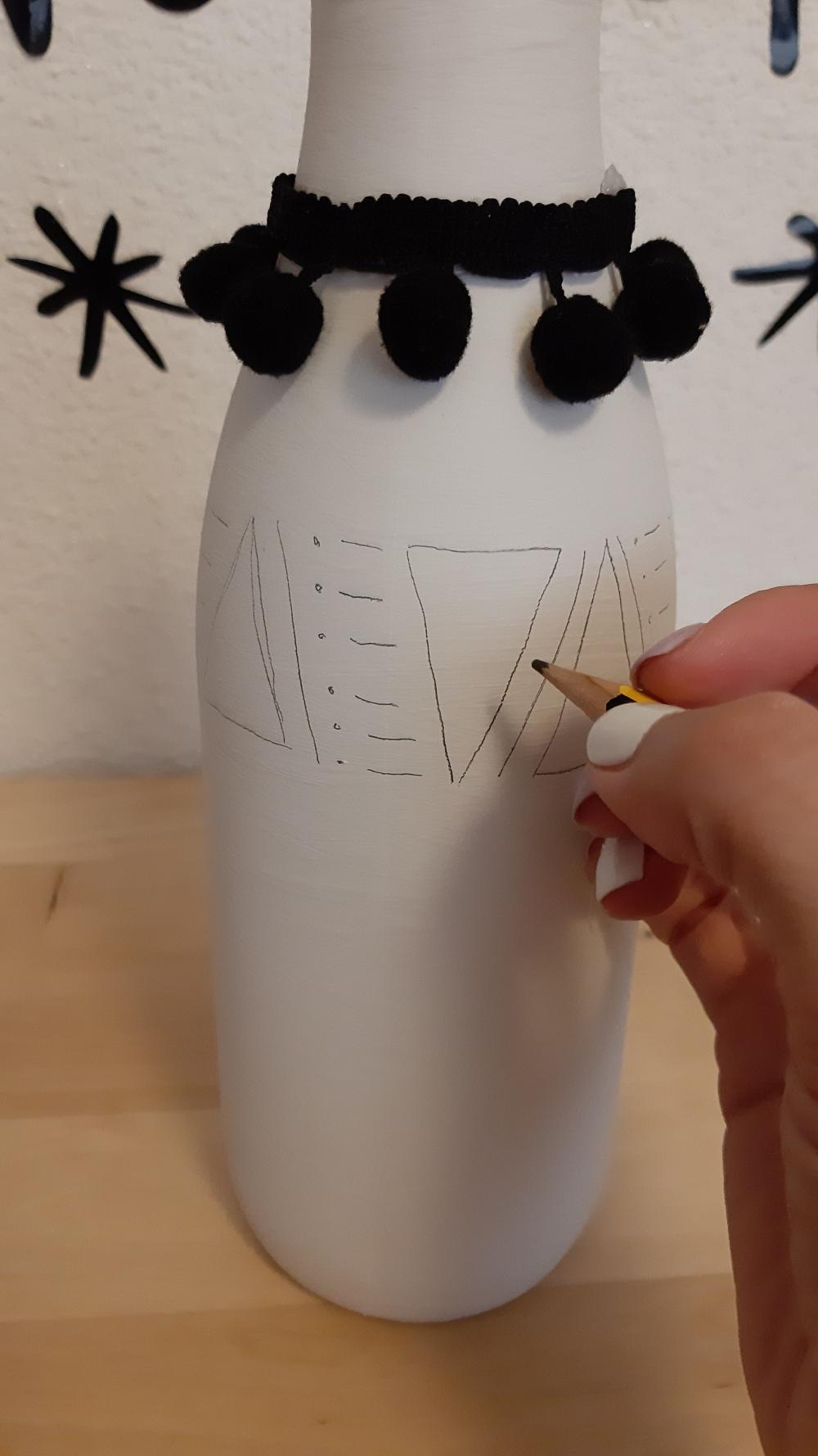 Como hacer un jarrón étnico_5