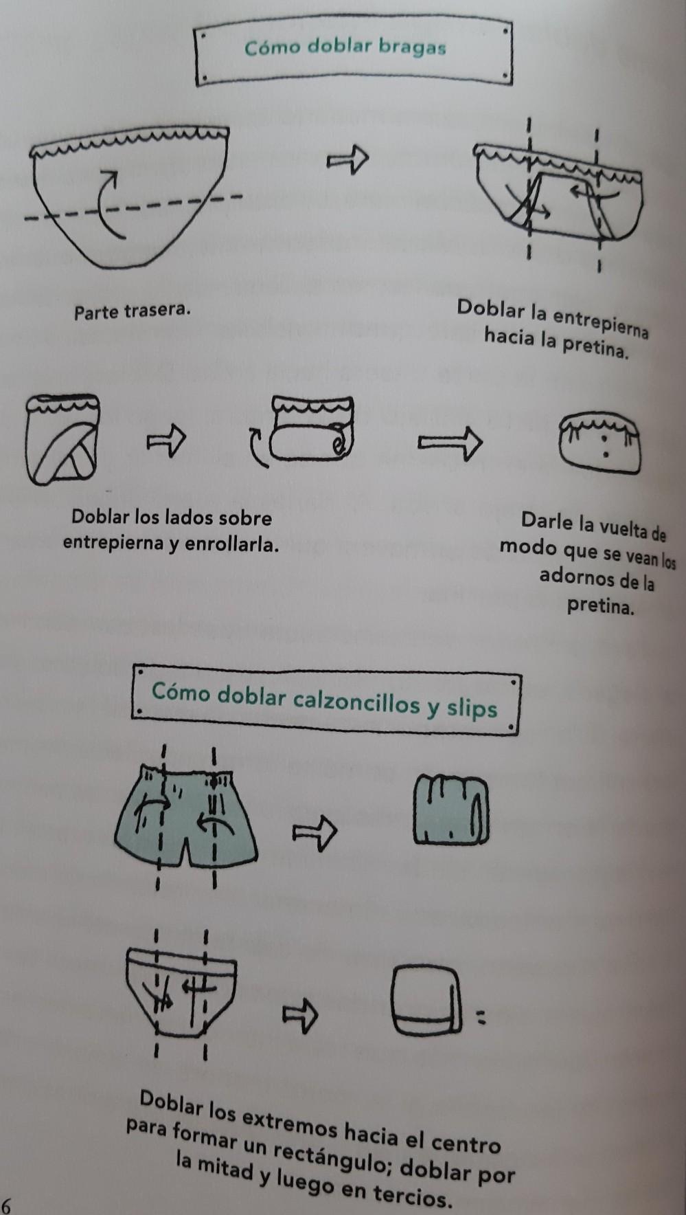 Como doblar bragas y calzoncillos