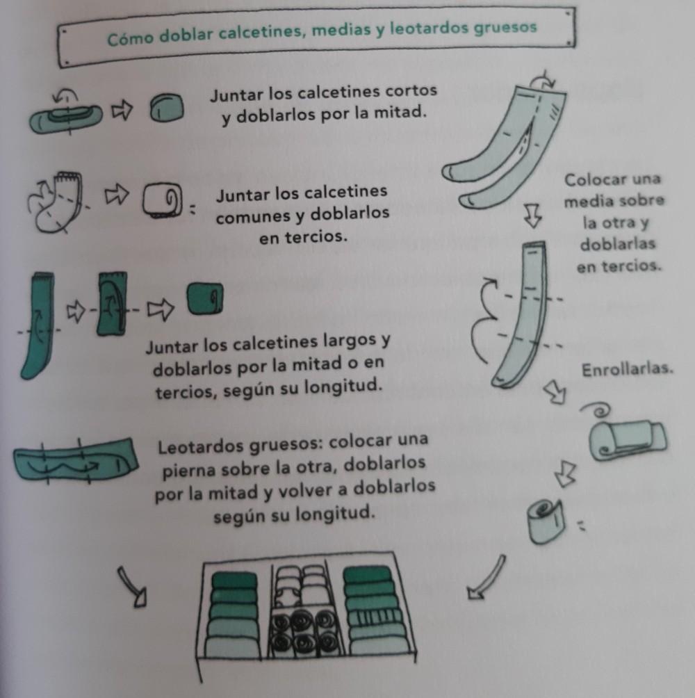 Como doblar calcetines, medias y leotardos gruesos