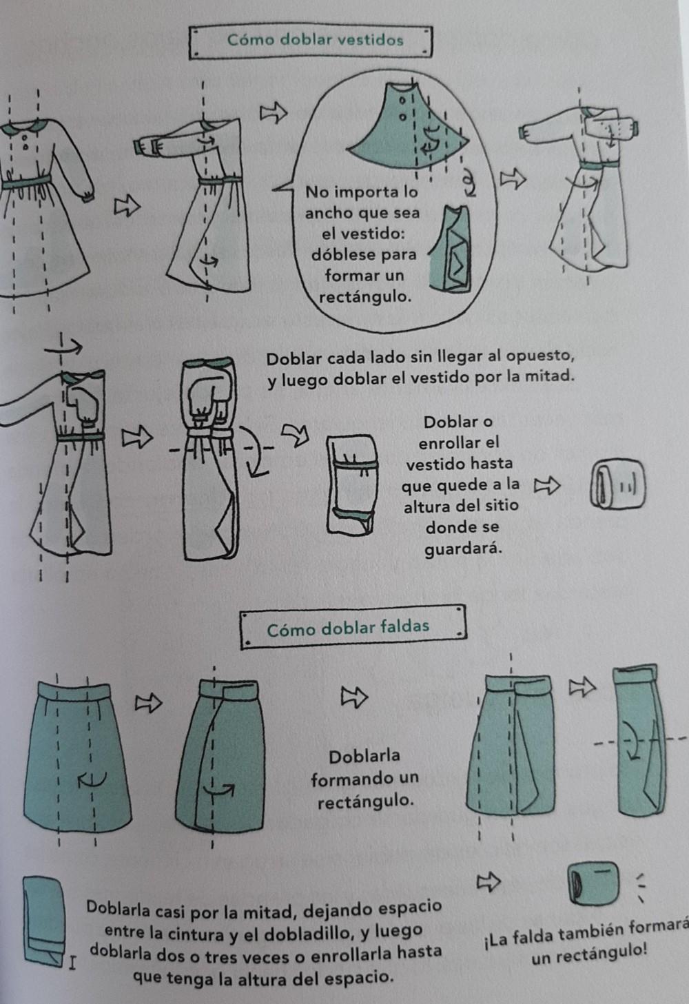 Como doblar vestidos y faldas